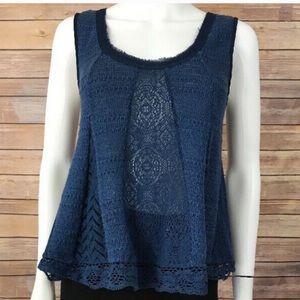 ANTHRO | Meadow Rue Blue Sweater Tank